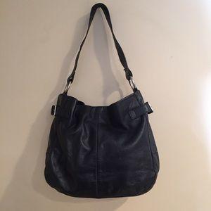 GAP Black Leather Hobo Should Bag